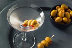 Classic Shaken Dry Vodka Martini - stock photo