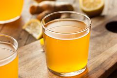 Homemade Fermented Raw Kombucha Tea - stock photo