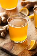 Homemade Fermented Raw Kombucha Tea Stock Photos
