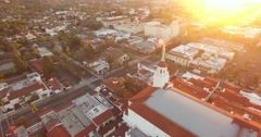 Aerial of cityscape in Santa Barbara - stock footage
