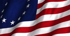 Betsy Ross Waving Flag 4K - stock footage