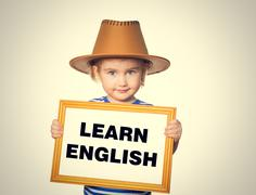 Text  learn english. - stock photo