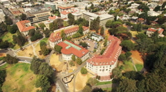 Aerial of cityscape in Berkeley - stock footage