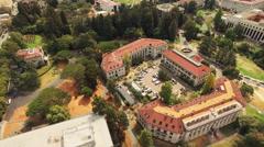 Aerial of houses and street in Berkeley - stock footage