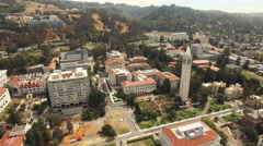 Aerial of cityscape in Berkeley Stock Footage