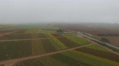 Aerial of beautiful field in Watsonville Stock Footage
