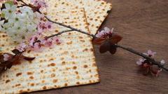 Jewish bred matza Stock Footage