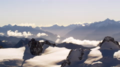French Alps Mountains Clouds Chamonix, France 5K HD Stock Footage - stock footage