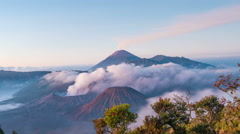 Timelapse of Sunrise Bromo Volcano, East Java, Indonesia - stock footage