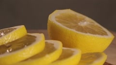 Sliced lemon juice expires Stock Footage