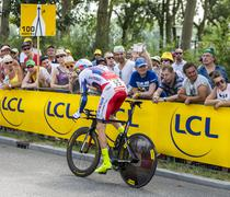 The Cyclist Dmitry Kozonchuk - Tour de France 2015 Stock Photos