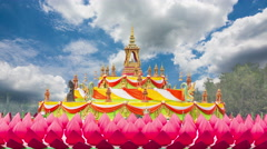 Wat Saman Rattanaram relics - stock footage