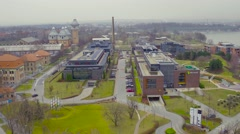 Industrial park in town Stock Footage