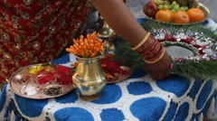 The attributes of the Hindu wedding - stock footage