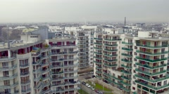 Modern apartment complex Stock Footage