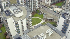 Aparment complex with riverview Stock Footage