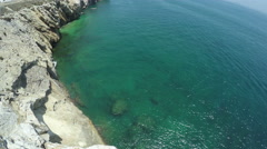 Europa Point coastline and Alboran Sea in Gibraltar - stock footage