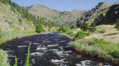 The Cache La Poundre River Canyon outside Fort Collins Stock Footage