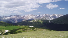 Rocky Mountain National Park in Colorado in 14000 Feet, Time Lapse - stock footage