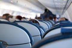 Aircraft Passenger Cabin - stock photo