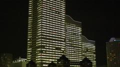 Light up of all Buildings in Yokohama Minato Mirai 21 Stock Footage