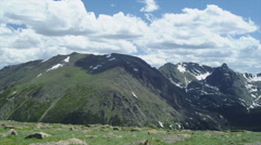 Rocky Mountain National Park in Colorado in 14000 Feet - stock footage