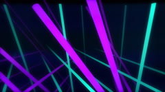VJ Loop Neon bars on fast Beat 128 bpm Stock Footage