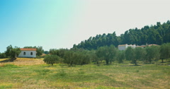 Nature scene with some houses in distance Stock Footage