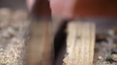 Sawmill in a countryside village Stock Footage