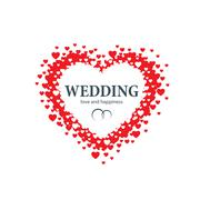 vector logo wedding - stock illustration