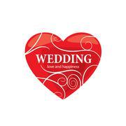 Vector logo wedding Stock Illustration