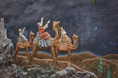Jesus Christ stucco history in the St. Joseph's Cathedral in Hanoi, Vietnam. - stock photo