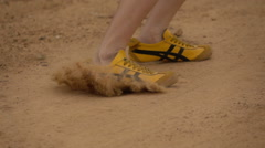 Running And Feet Slide - stock footage