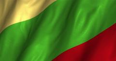 Lithuania Waving Flag 4K Stock Footage