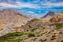 Dhankar Gompa. India. Spiti Valley - stock photo