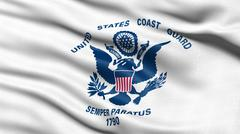 US Coast Guard flag - stock illustration