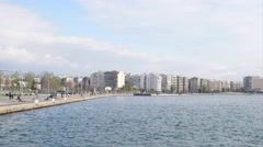 Panorama of city Thessaloniki Stock Footage