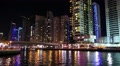 Fantastic night Dubai Marina, United Arab Emirates HD Footage