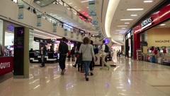 People inside Dubai Mall in United Arab Emirates Stock Footage