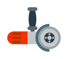 Big powerful angle grinder with abrasive disk industry machine vector Stock Illustration