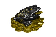 The statuette wealth toad Stock Photos