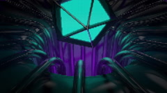 VJ Loop platonic coming out from neon metal beats structure 128 bpm animate  Stock Footage