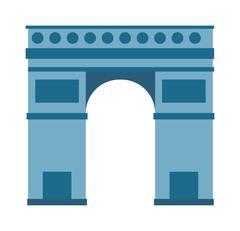 Arc de Triomphe Paris France architecture europe travel monument vector - stock illustration