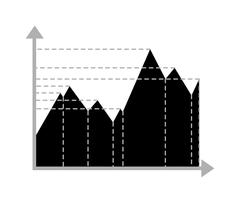 Business data graph chart analytics vector elements black silhouette - stock illustration