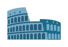 Amphitheater ruin an ancient architecture history city vector illustration Stock Illustration