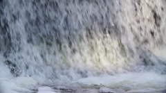 Water Way In The City With Small Dam Stock Footage