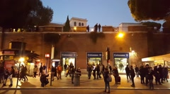 Rome, Italy. Colosseum metro stop Line B. - stock footage