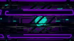 VJ Loop Neon Metal Beats structure moving sideways 128 bpm outlined Stock Footage