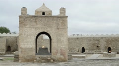 Zoroaster church at 2 November 2015 in Ateshgah, Azerbaijan. Stock Footage