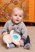 Six month old baby boy Stock Photos